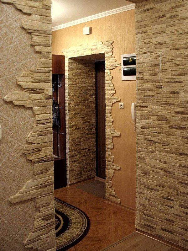 Дизайн квартир декоративным камнем