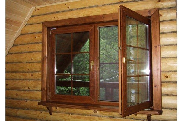Установка окна в деревянном доме фото