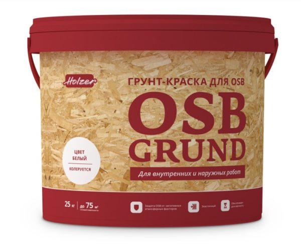 Есть специальный состав для ОСБ, который наносится перед тем, как отделать поверхность, но подойдет любой адгезионный грунт