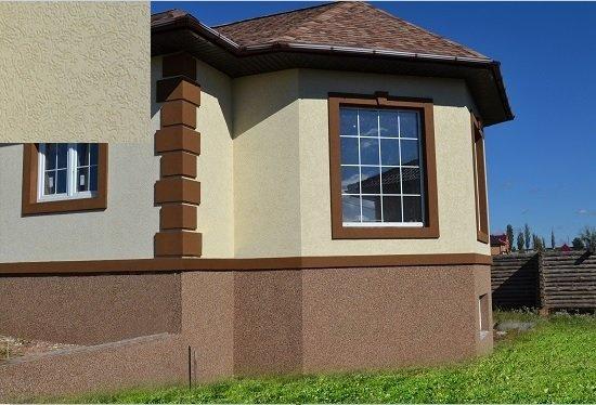 Фасад дома короедом своими руками 70