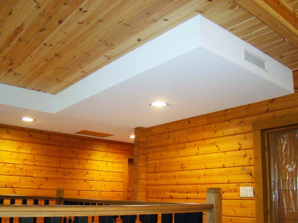 Как сделать потолок в деревянном доме с