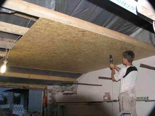 Потолок из осб плиты своими руками