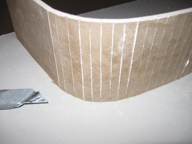 Как сделать полукруг из гипсокартона