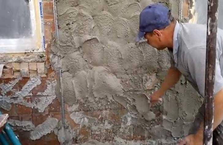 Цементный раствор для штукатурки: пропорции, состав, фото