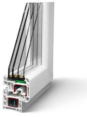 Окно с трехкамерным стеклопакетом.