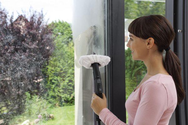Пароочиститель и штанга на страже чистоты окон