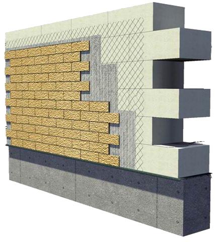 Пеноблоки можно отделывать и клинкерной плиткой.