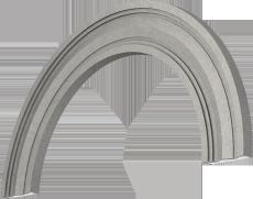 Полукруглая арка.