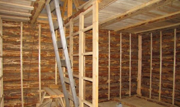Пример каркаса для обшивки стен
