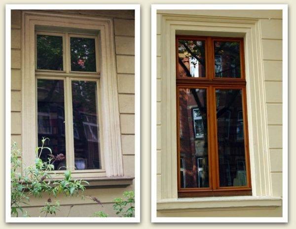 Пример восстановленного деревянного окна