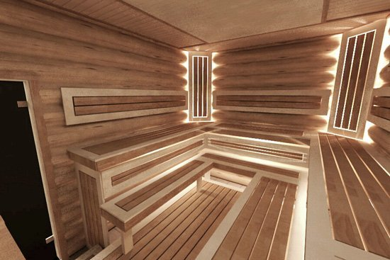 С жаром от каменки справится только натуральная древесина!