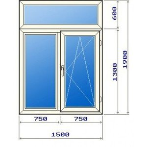 Стандартный размер окна без балкона в сталинке.