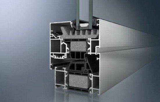 Структура рам теплого алюминиевого окна.
