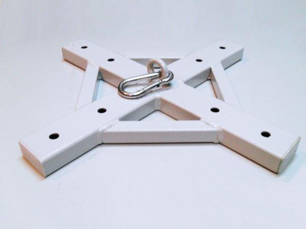 Такое крепление выдержит самые высокие нагрузки без проблем, главное, чтобы и потолок был прочным