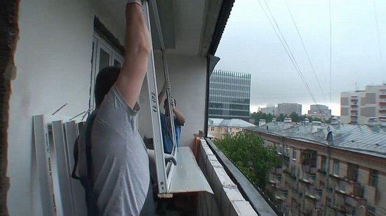 Установка пластикового окна в лоджию - установка пластиковых.