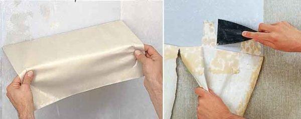 Виниловые обои снимаются намного лучше бумажных после обработки составом