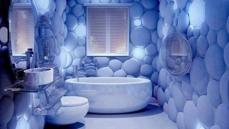 Необычный ремонт в ванной комнате