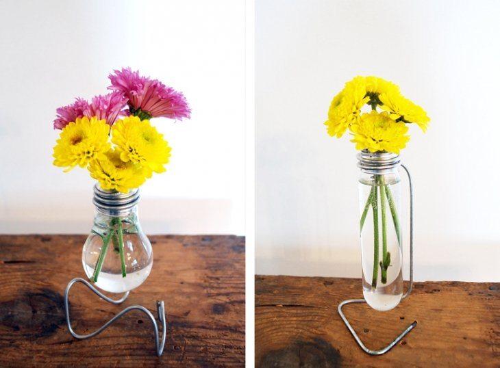 Как сделать вазу из лампочки своими руками 82
