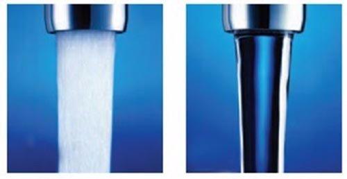 Аэратор обеспечивает экономию воды за счет подмешивания к струе воздуха