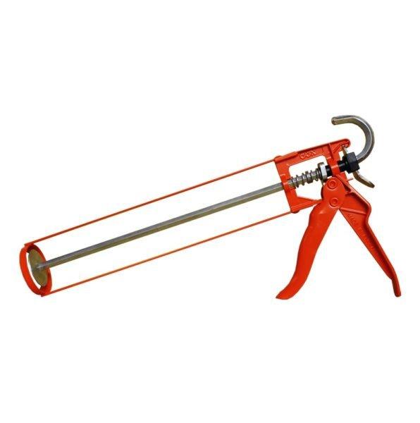 Аккуратно и эффективно работать с герметиком помогает такой пистолет.