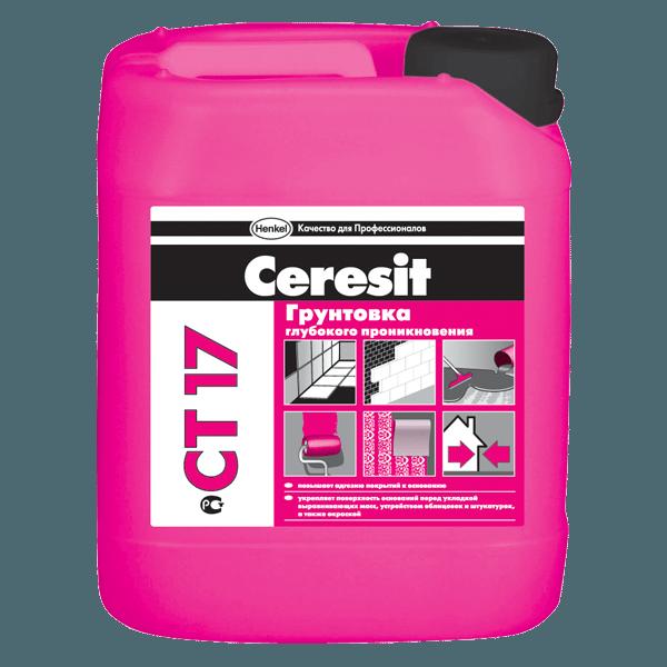 Акриловая грунтовка глубокого проникновения от немецкого производителя Ceresit