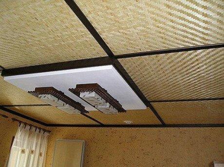 Бамбуковая подвесная конструкция.