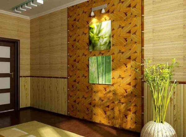 Бамбуковые панели можно использовать для интерьеров, оформленных в эко-стиле