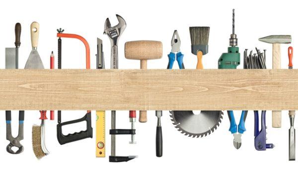 Базовый набор инструмента для сборки деревянной мебели