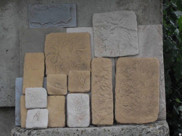 Бетонный камень для облицовки фасадов.