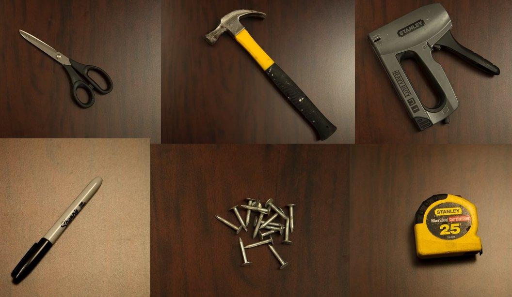 Большинство инструментов, которыми можно отделывать мебель, есть в любой домашней мастерской