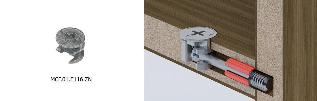 Большинство современных шкафов оборудованы узлами с эксцентриковой стяжкой.