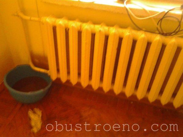 Был старый чугунный радиатор, который срезали и отправили в пункт приема металлолома.