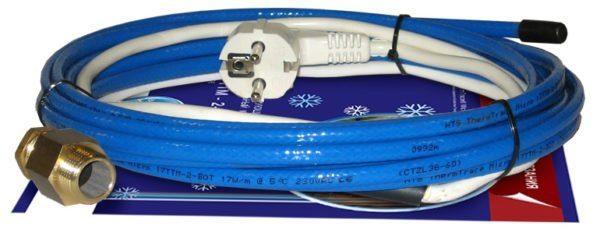Чаще всего комплекты для использования внутри трубы имеют синий цвет изоляции