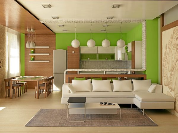 Чаще всего кухни-студии оборудуют в просторных новостройках или в частном доме