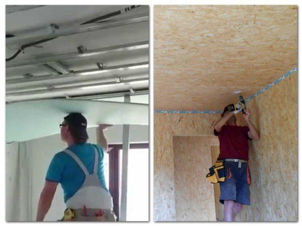 Чем обшить стены и потолки, ГКЛ или ОСП: об этом читайте дальше