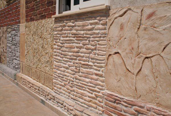 Декоративная шпаклевка фасада может быть очень разнообразной.