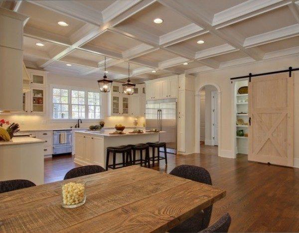 Декоративные балки на потолок кухни