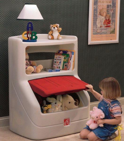 Детский шкафчик обтекаемой формы с дверкой, острые углы отсутствуют