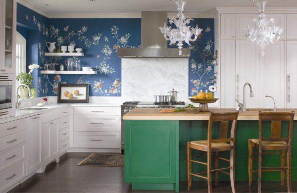 Дизайн рабочей зоны в кухне.