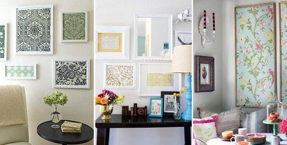 Для настенных панно и картин лучше выбирать мелкий рисунок, чтобы композиция выглядела гармонично