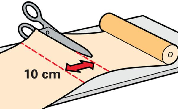 Для однотонных обоев припуск составляет 10 см