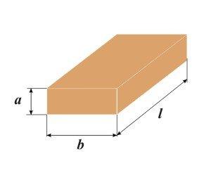 Для определения объема длину нужно умножить на ширину и толщину