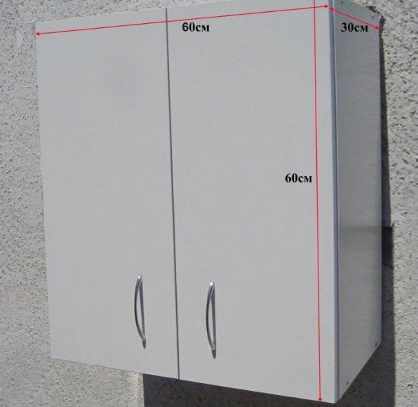 Для определения уровня монтажа ориентируйтесь на размеры шкафа