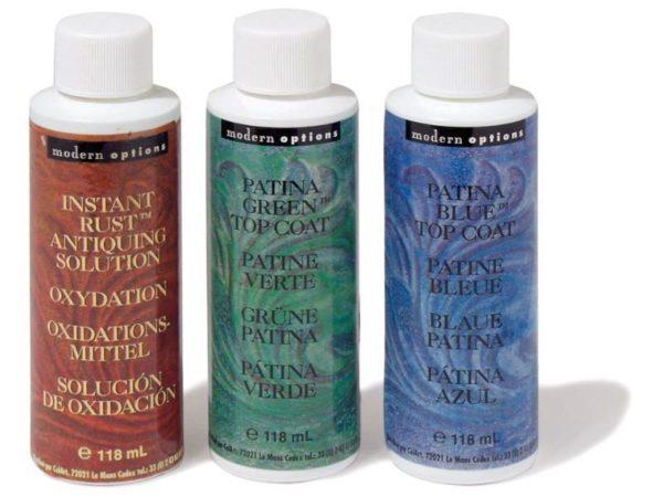 Для патинирования можно использовать как специальные, так и привычные акриловые краски
