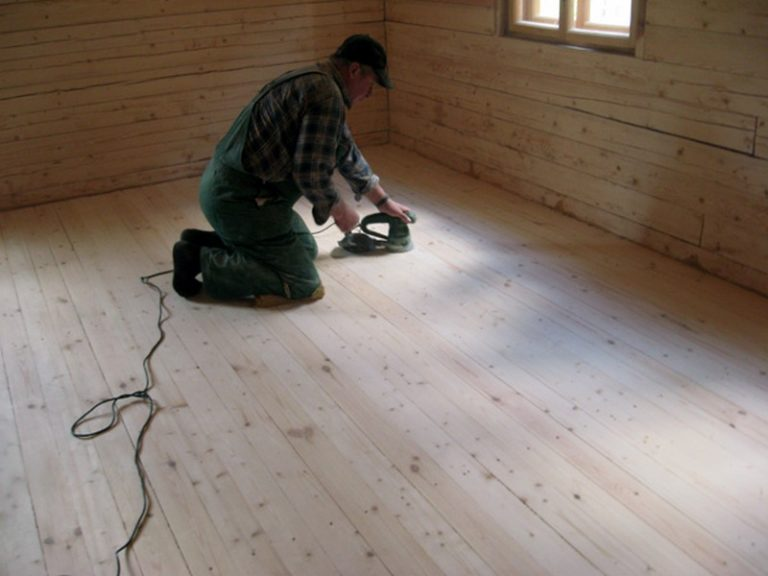 Чем отциклевать деревянный пол своими руками