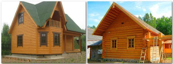 Для сравнения, слева — блок хаус, а справа — настоящее бревно: по-моему, имитация бревна выглядит аккуратнее