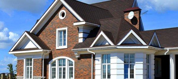 Дома могут приобретать различные цветовые оттенки: от светлой до темной гаммы
