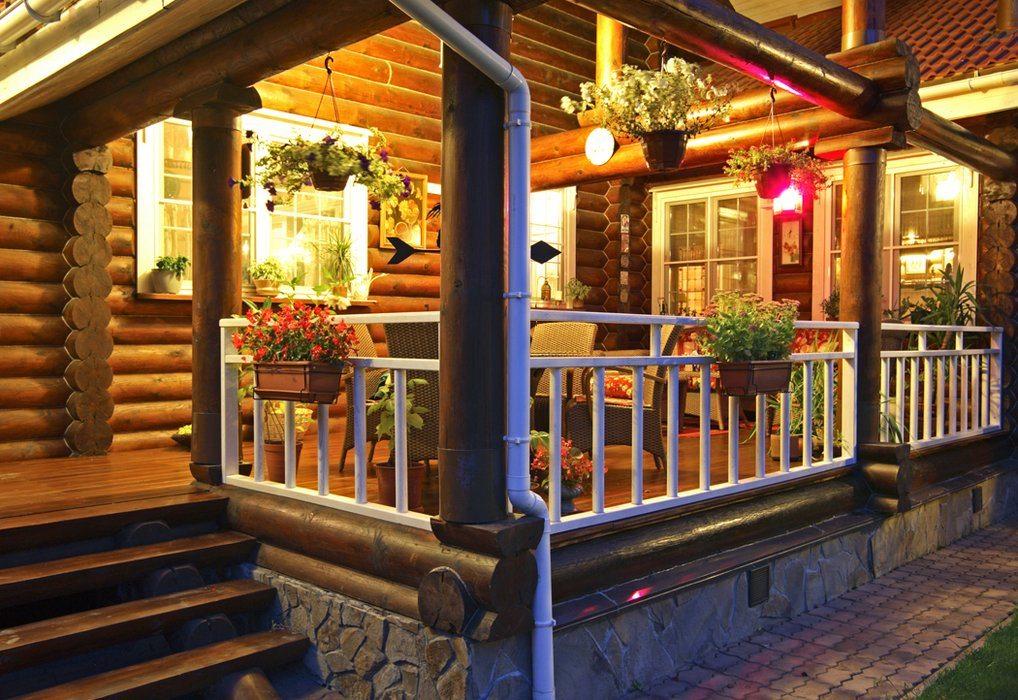 Фото дизайн террасы в деревянном доме