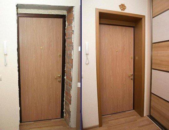 проем для входных стальной двери