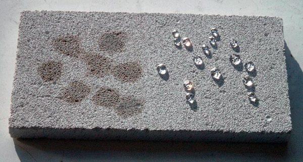 Если соблюдена инструкция применения, калиевое стекло делает бетон водонепроницаемым
